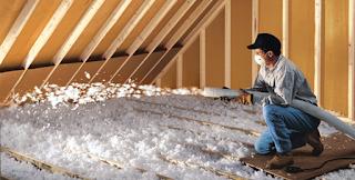 contractor insulating attic