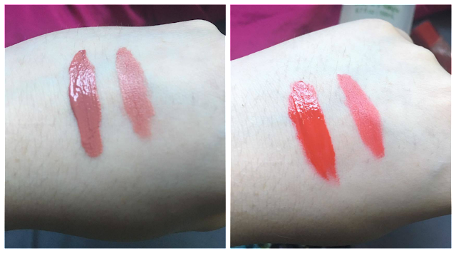 Vivid Matte Nude Flush and Rebel Road Swatches