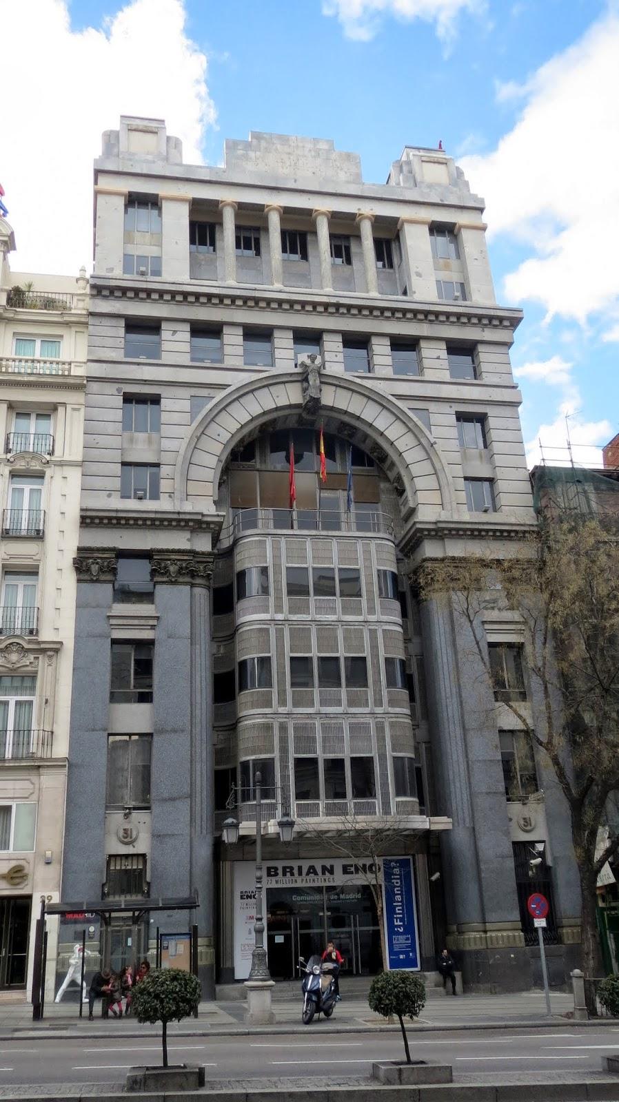 Antonio Palacios. Banco Mercantil e Industrial hoy sede de la Consejería de Cultura y Deportes de la Comunidad de Madrid.