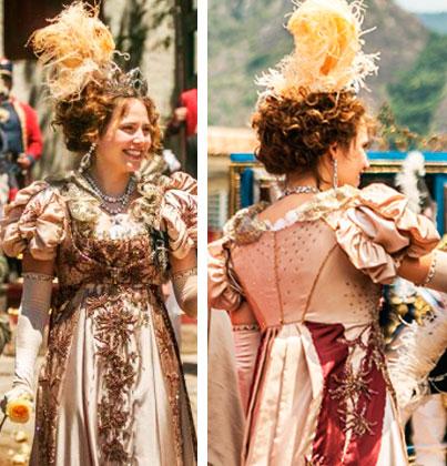 Leopoldina vestido em Novo Mundo