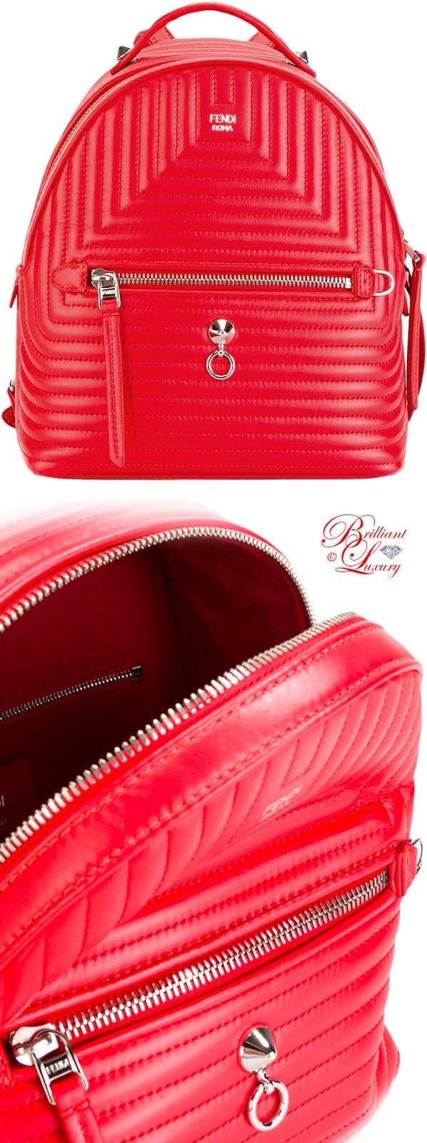 Brilliant Luxury ♦ Fendi Backpack