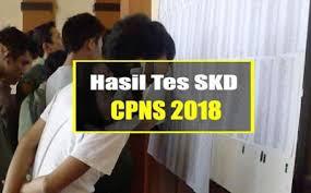 Hasil tes skd cpns 2018