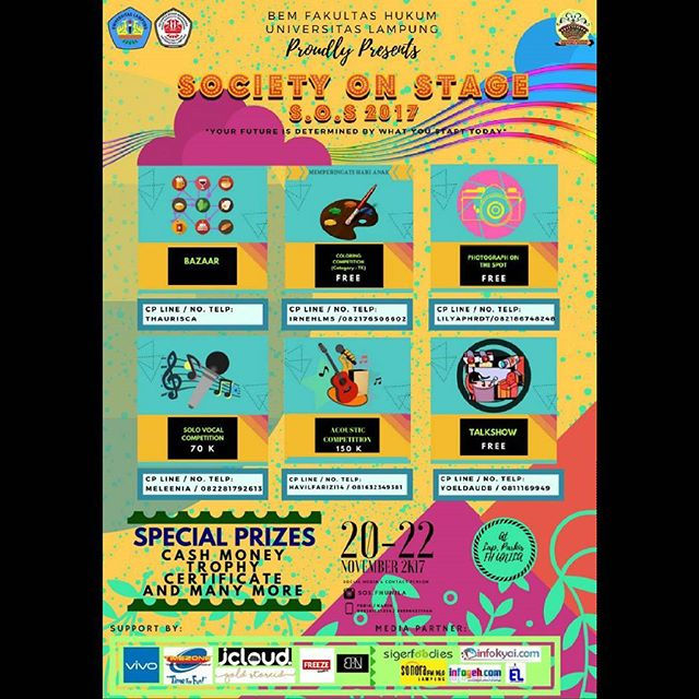 Event Society on Stage (SOS) 2017 Untuk Umum
