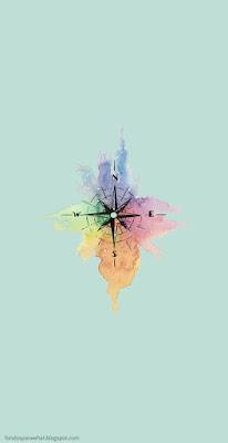 fondo de pantalla brújula de colores