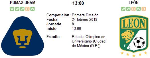 Pumas UNAM vs León en VIVO