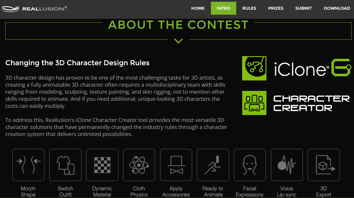 Character Design Contest 2016 : Reallusion announces d character design contest
