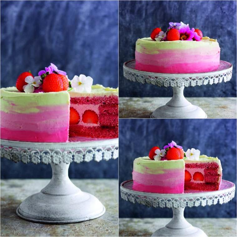 Strawberry Chiffon Cake & How To Make One