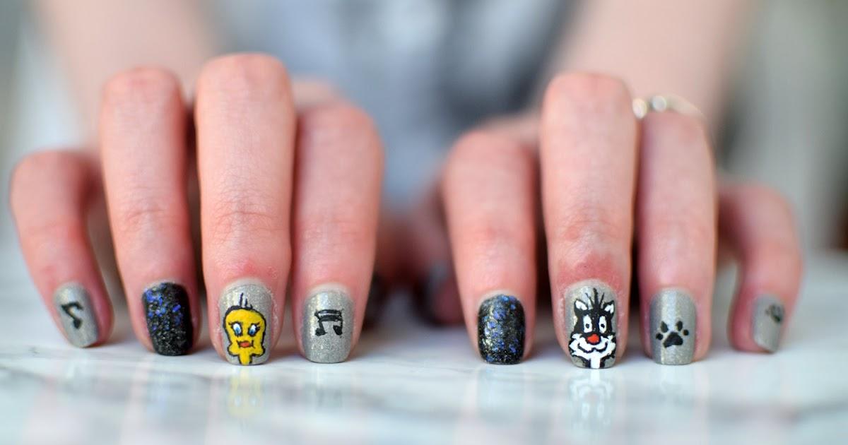 mon premier nail art looney tunes
