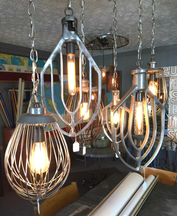 vintage mixer light fixtures