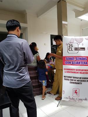 Bertempat Dikantor Desa, Baksos Pengobatan Gratis Rutin Digelar PT.CL Tbk