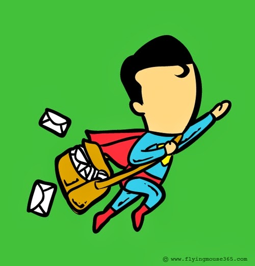 03-Superman-The-Postman-Illustrator-Chow-Hon-Lam-Superheroes-Part-Time Jobs-www-designstack-co
