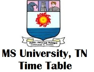 MS University Tirunelveli Timetable 2017