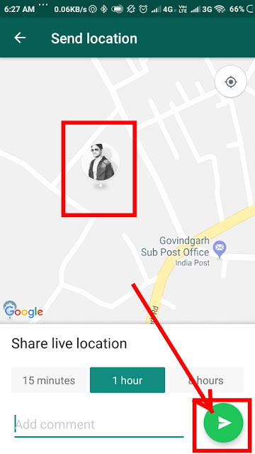 how to share location on whatsapp