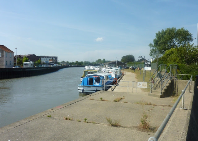 Great Yarmouth moorings on the River Bure