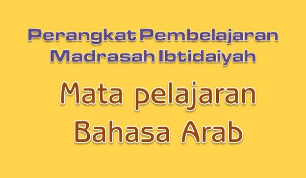 RPP Silabus Prota Prosem Mata Pelajaran Bahasa Arab MI Kelas 1 2 3 4 5 6