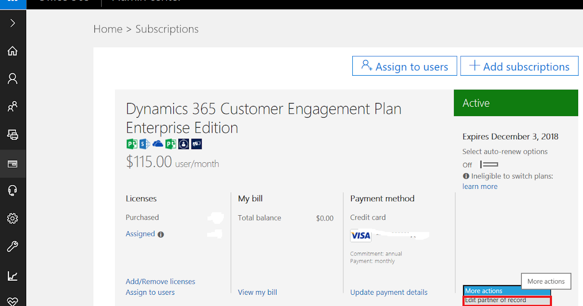How To Link Client Licence With The Partner MS Dynamics 365 Online