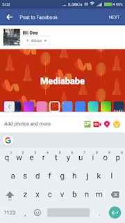 Cara buat status Facebook dengan Gambar Backround berwarna-warni