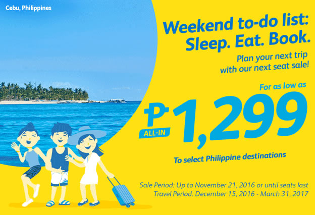 Cebu Pacific Promo Fare 2017