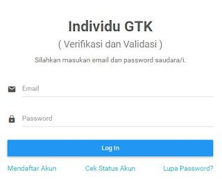 Cara Daftar Akun Verval Individu GTK dan Cetak Kartu GTK Kemdikbud