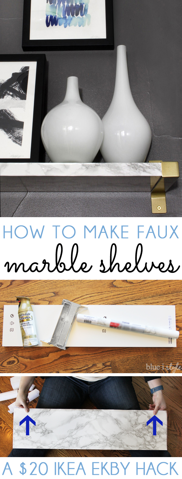 How to Make Marble Shelves DIY Faux Marble