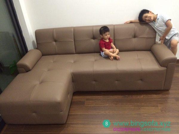 Sofa góc l nhà chị thủy chung cư linh đàm - SF05