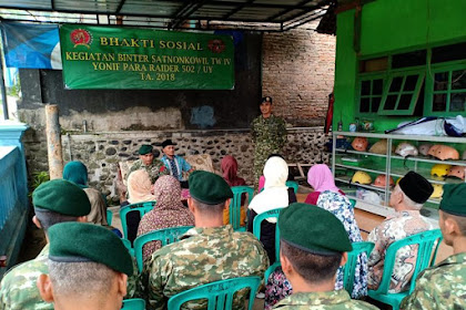 Bakti Sosial Yonif PR 502 Kostrad di Desa Binaan