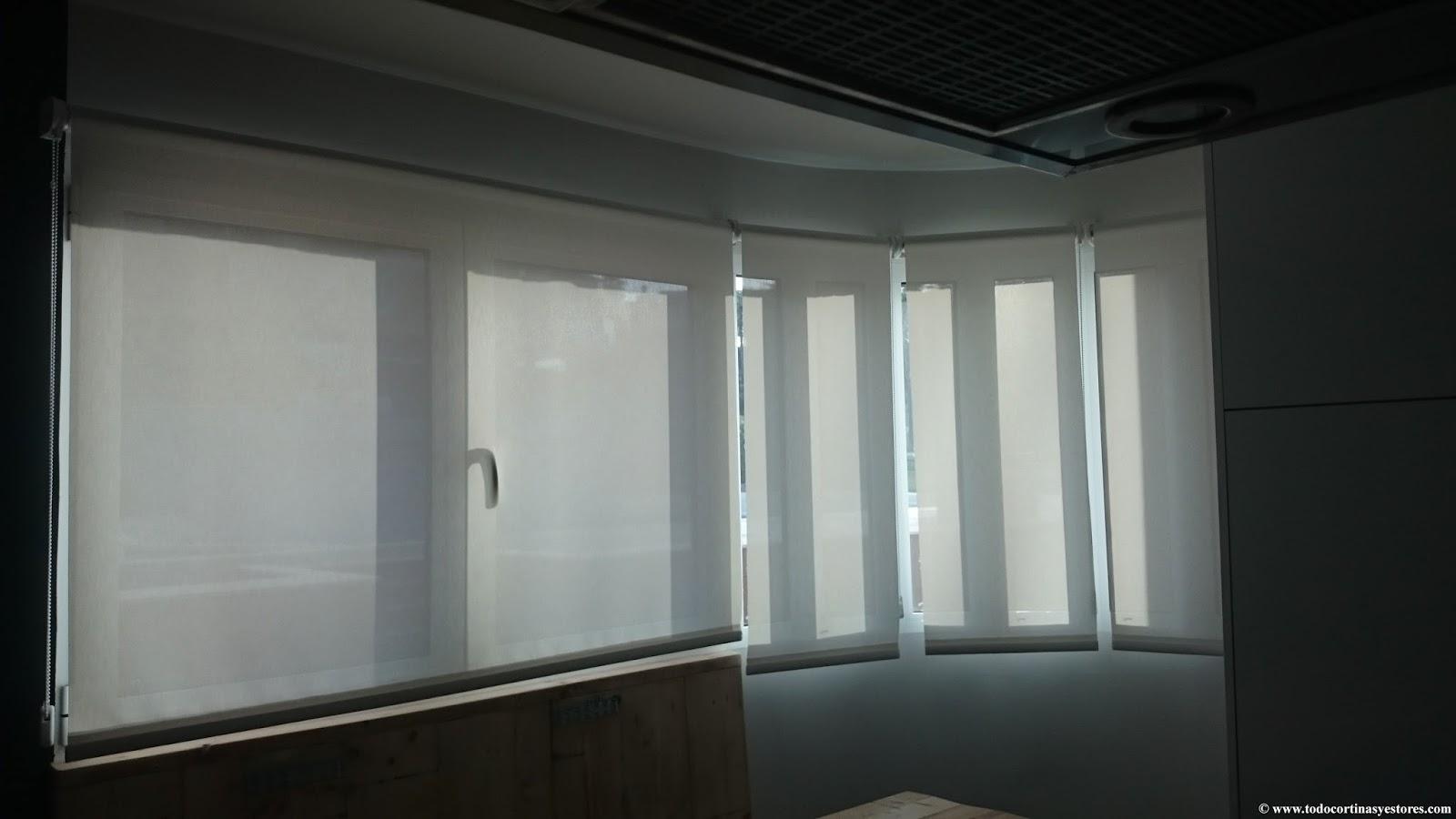 Decoracion interior cortinas verticales estores - Estores para puertas ...