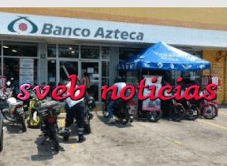 Asaltan Elektra y banco Azteca en Boca del Rio Veracruz