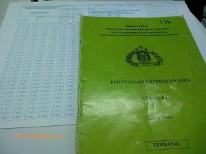 Contoh Soal Tes Kesehatan Jiwa Bagi Calon Bawaslu, KPU, DPR dan Polri