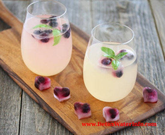 Blueberry mint lemon detox water fat loss