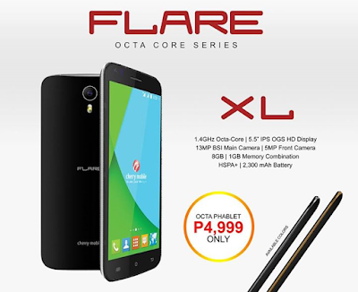 Cherry Mobile Flare XL: Specs. Price and Availability