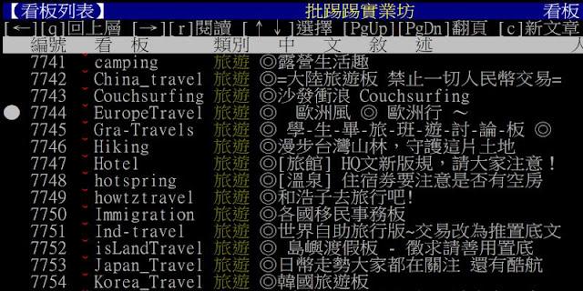 運用 PTT 蒐集各種(旅遊)資訊﹍不可不知的操作及搜尋技巧