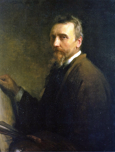 Carl Bloch, Self Portrait, Portraits of Painters, Fine arts, Portraits of painters blog, Paintings of Carl Bloch, Painter Carl Bloch