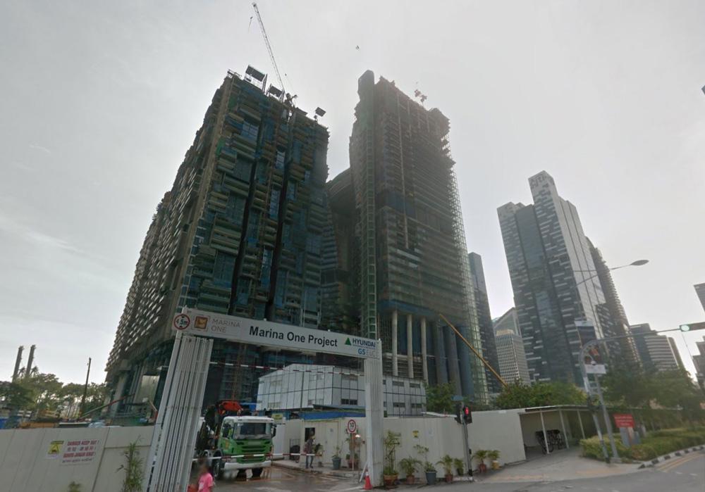 Marina One construction