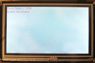 The message displayed after successful flashing of the Nextion board (arduinobasics.blogspot.com)