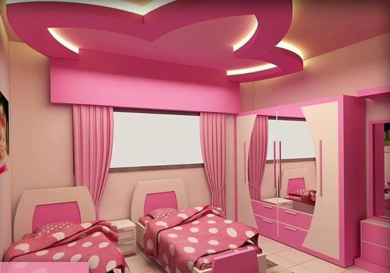 Tv Unit Designs For Living Room Display Furniture 15 Pink Gypsum Board Ideas Kids - Decor Units
