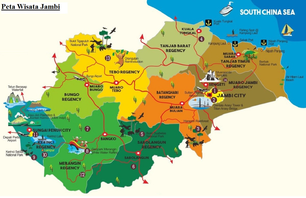 Peta Wisata Jambi