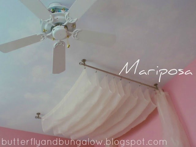 butterfly 8)(8 bungalow: How to Make a Canopy From Curtain Rods