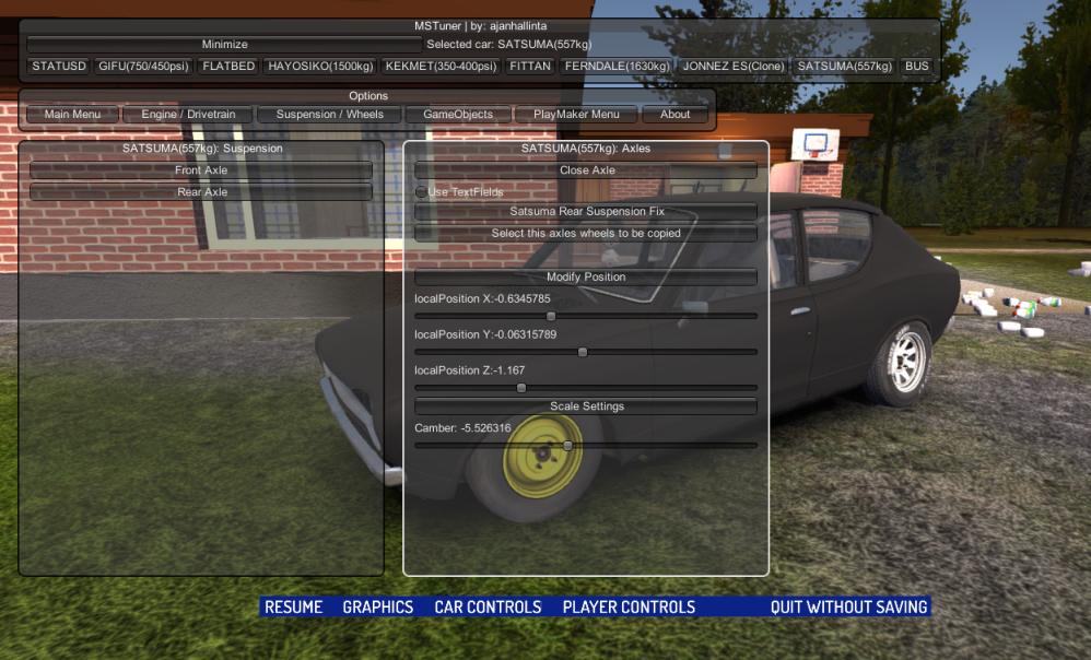 Mod] MSTuner - Modifique qualquer veículo do jogo | My