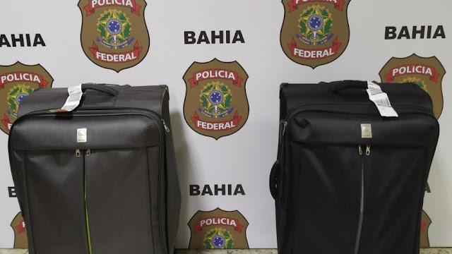 PF prende casal que estava levando para Portugal quase 12kg de cocaína