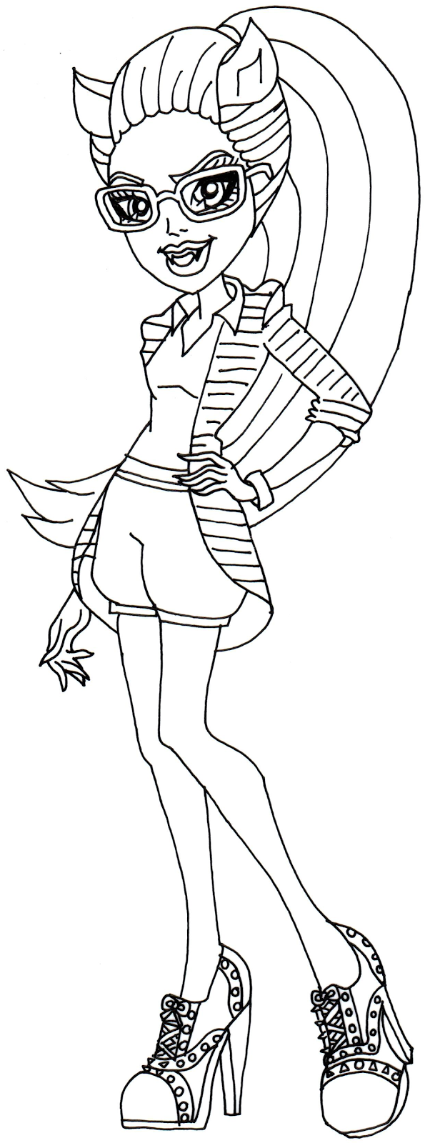 clawdia wolf coloring pages - photo#4