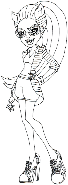 Free Printable Monster High Coloring Pages: Clawdia Wolf