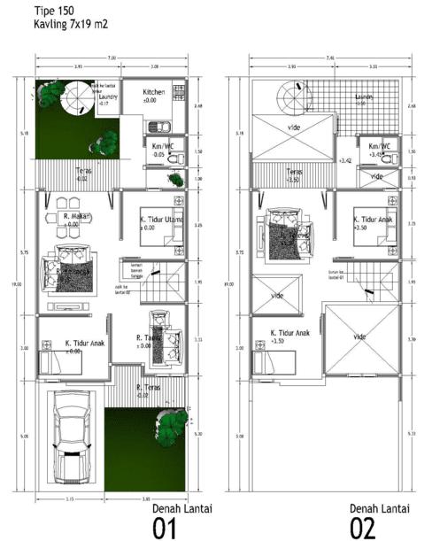 Inspirasi Denah Rumah Minimalis Type 36 Godean Web Id