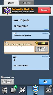 Cara Chat Menggunakan Huruf Besar Pada Game Clash Royale
