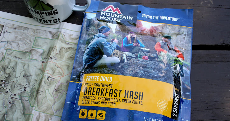 Starting my day with Mountain House's Spicy Southwest Breakfast Hash