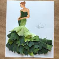 Arte con collage de comida - verduras