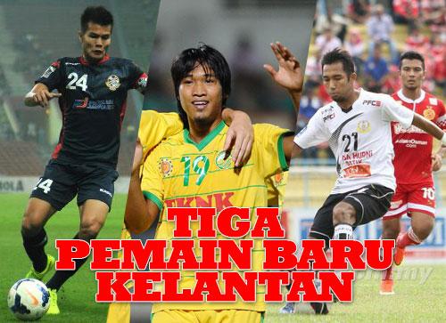 Tiga Pemain Baru Kelantan 2016