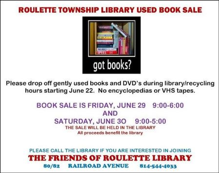 6-29/30 Used Book Sale, Roulette