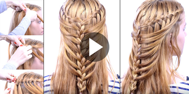 Learn - How To Create Waterfall Braid Into Mermaid Braid, See Full Tutorial