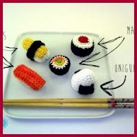 Sushi amigurumi